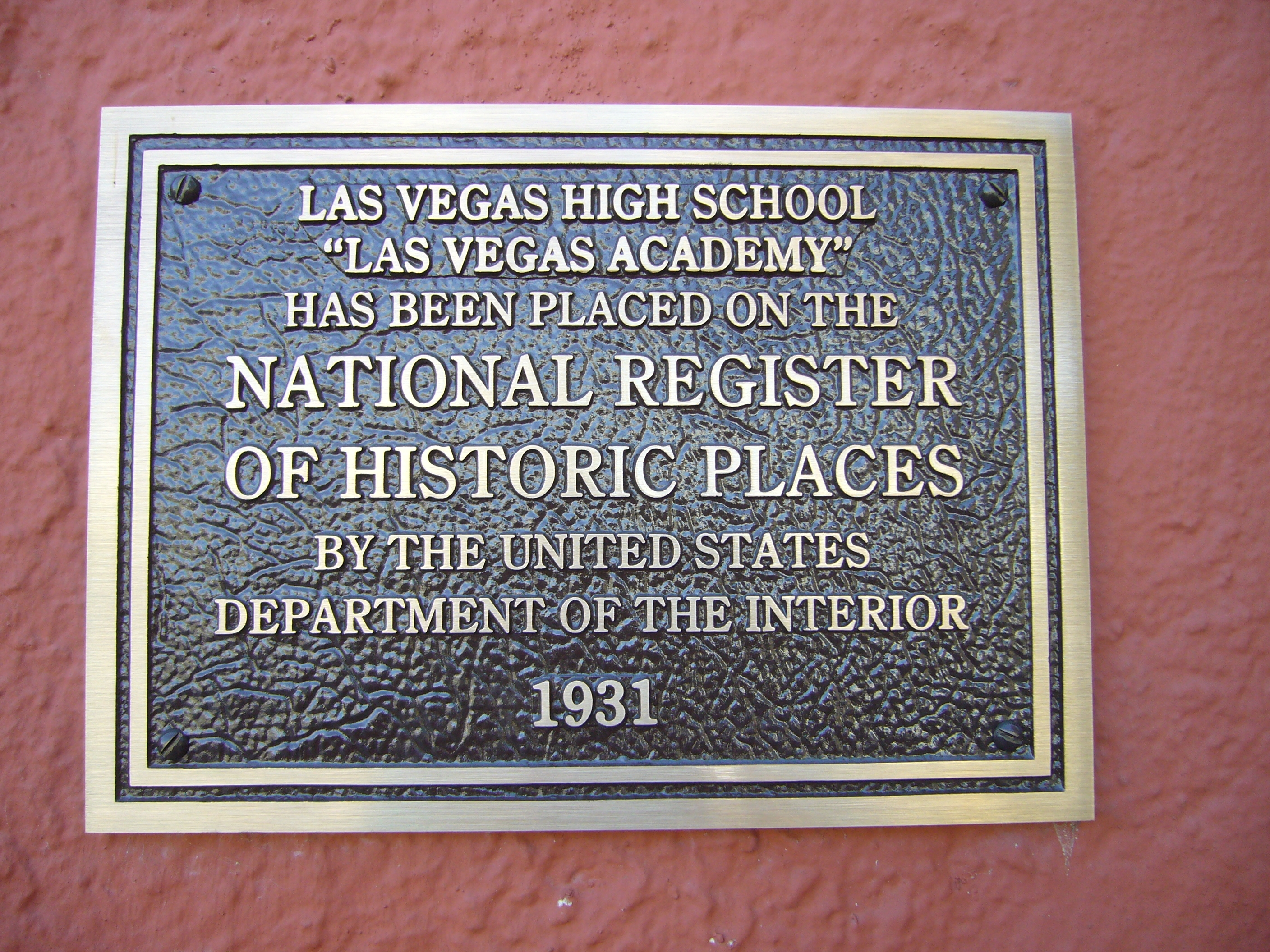 Las Vegas High School Marker