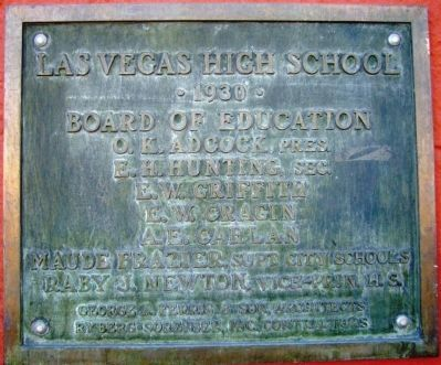 Plaque to the Left of Entrance. image. Click for full size.