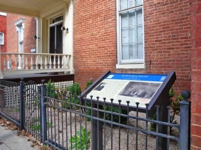 Marker in front of McMechen House image. Click for full size.