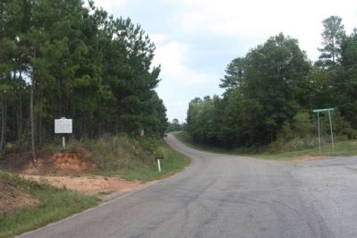Old Simkins Cemetery Marker, looking north on Center Spring Road image. Click for full size.