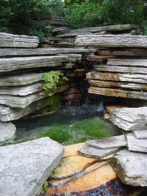 Alfred Caldwell Lily Pool - The Waterfall image. Click for full size.
