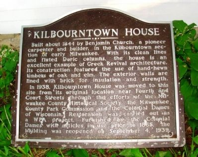 Kilbourntown House Marker image. Click for full size.