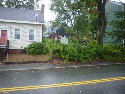 Pentucket-Haverhill Marker seen from across the street. image. Click for full size.