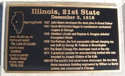 Illinois, 21st State Marker image. Click for full size.