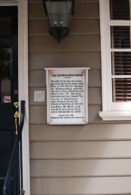David Ramsay House Marker image. Click for full size.