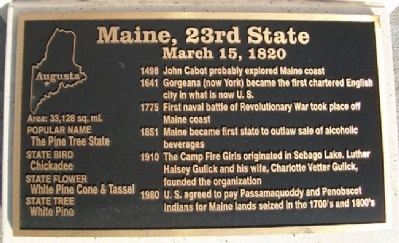 Maine, 23rd State Marker image. Click for full size.