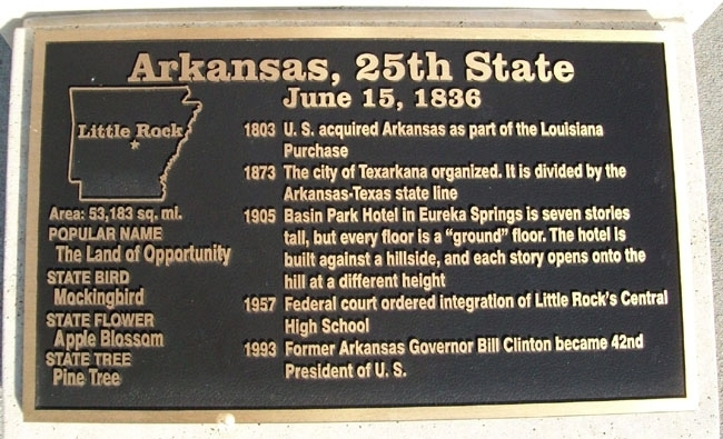 Arkansas, 25th State Marker