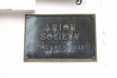 Arion Society<br>Founded 1832 image. Click for full size.