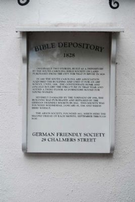 Bible Depository Marker image. Click for full size.