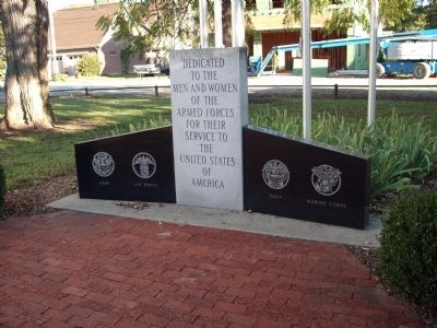 New Harmony Area Veterans Memorial Marker -and- Memorial Bricks image. Click for full size.