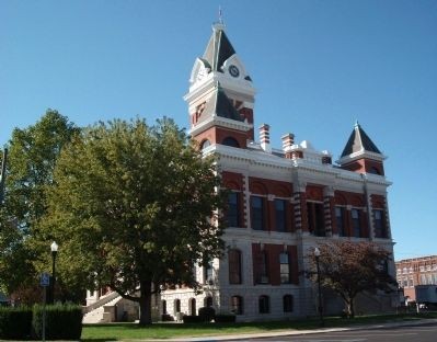 North/East Corner - - Gibson County Courthouse <br> Princeton, Indiana image. Click for full size.