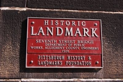 Seventh Street Bridge Marker image. Click for full size.