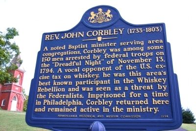 Rev John Corbley Marker image. Click for full size.