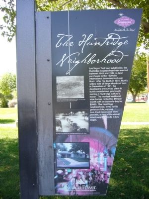 The Huntridge Neighborhood Marker image. Click for full size.