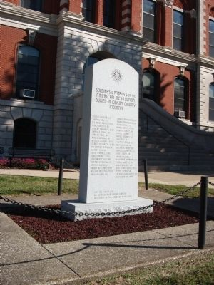 Gibson County American Revolution Honor Roll Marker image. Click for full size.