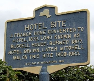 Hotel Site Marker image. Click for full size.