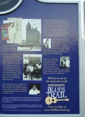 Detail fromThe Blues Trail Marker - Side B image. Click for full size.