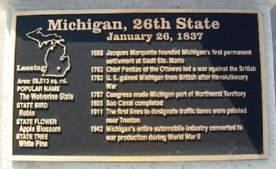 Michigan, 26th State Marker image. Click for full size.