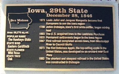 Iowa, 29th State Marker image. Click for full size.