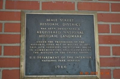 Beale Street Historic District Marker image. Click for full size.