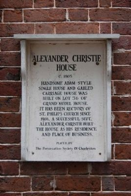Alexander Christie House Marker image. Click for full size.