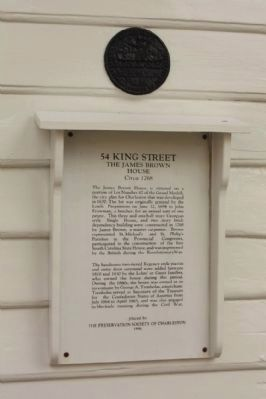 54 King Street Marker including image. Click for full size.
