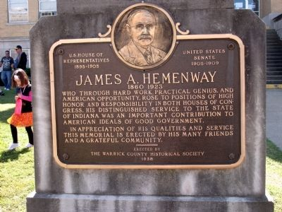 James A. Hemenway Marker image. Click for full size.