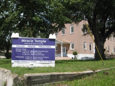 Miracle Temple Sign image. Click for full size.