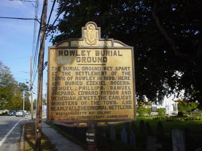 Rowley Burial Ground Marker image. Click for full size.