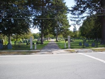 Rowley Burial Ground entrance. image. Click for full size.