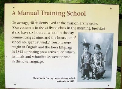 A Manual Training School Marker image. Click for full size.