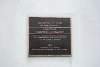 Huguenot Church<br>National Historic Landmark Plaque image. Click for full size.