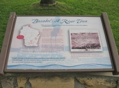 Boscobel - A River Town Marker image. Click for full size.