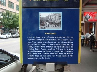 First Avenue Marker image. Click for full size.