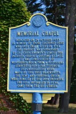 Memorial Chapel Marker image. Click for full size.