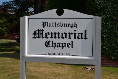Plattsburgh Memorial Chapel Sign image. Click for full size.