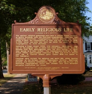 Early Religious Life Marker image. Click for full size.