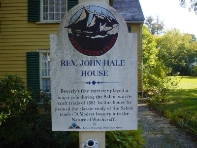 Rev. John Hale House Marker image. Click for full size.