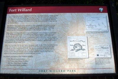 Fort Willard Marker image. Click for full size.
