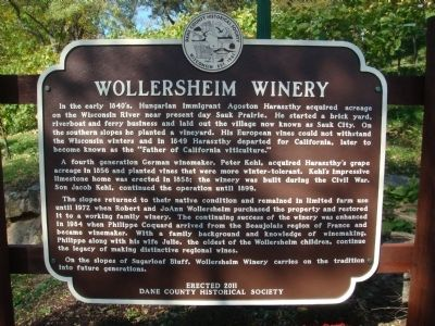 Wollersheim Winery Marker image. Click for full size.