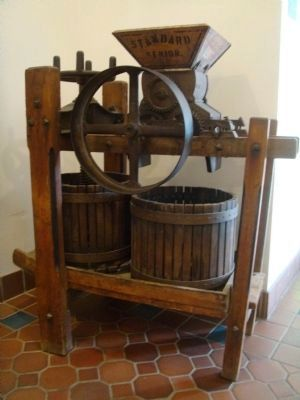 Wollersheim Winery Antique Grape Crusher image. Click for full size.