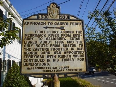 Approach to Carr's Ferry Marker image. Click for full size.