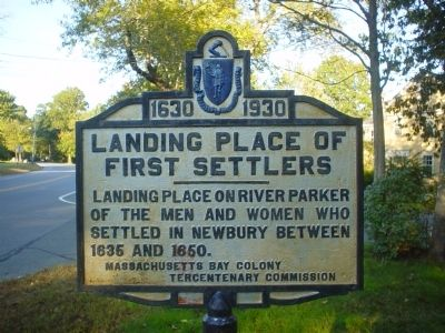 Landing place of first settlers Marker image. Click for full size.
