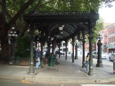 The Pioneer Square Pergola image. Click for full size.