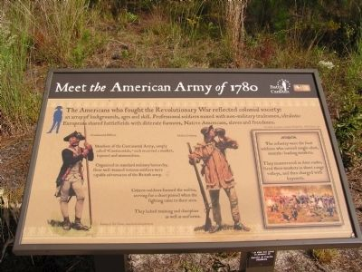 Meet the American Army of 1780 Marker image. Click for full size.
