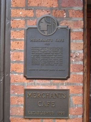 Merchant's Cafe Marker image. Click for full size.