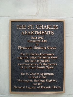 The St. Charles Apartments Marker image. Click for full size.
