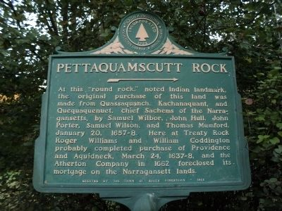 Pettaquamscutt Rock Marker image. Click for full size.