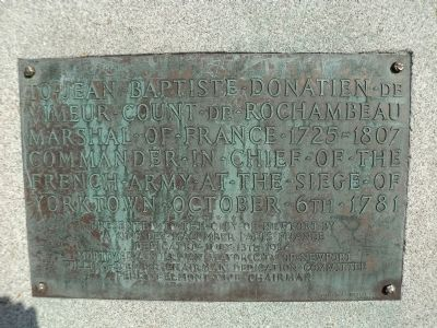 Marker on Back of Monument image. Click for full size.