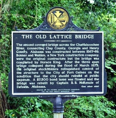 The Old Lattice Bridge Marker, Side 1 image. Click for full size.